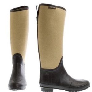 Hunter Lady N Rain boots in brown and beige